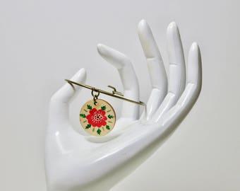 Antonia Antique Gold & Wood Charm Bracelet / Bangle