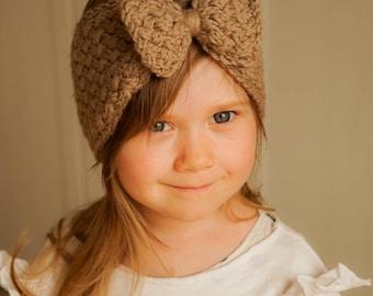 KNITTING PATTERN bow headband Selma (newborn, baby, toddler, kids, woman sizes)