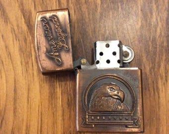 Vintage American Legend Copper Lighter