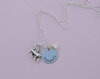 Custom Charm Name Necklace