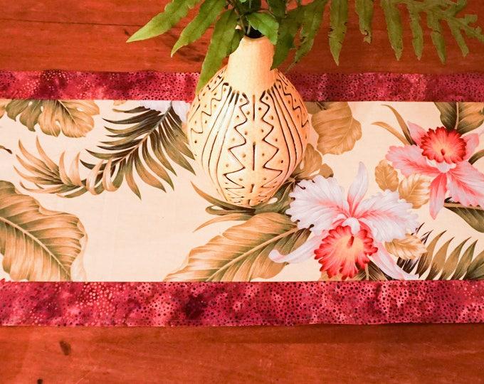 Table Runner-Handmade-Tropical Decor-Beach Decor-Hawaiian Decor-Jungalow-Gift