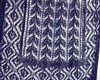 Knitted Shawl, Angora Shawl, Beaded Shawl, Wedding Shawl, Bridal Shawl, Lace Shawl, Blue Shawl, Evening Shawl, Knitted Wrap, Lace Wrap