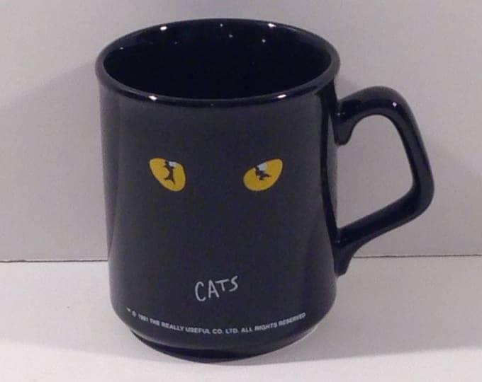 Vintage Official Cats Broadway Musical Souvenir Mug