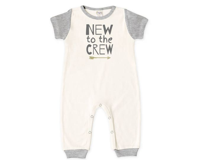 Baby Coming Home Outfit, Baby Boy Romper, Baby Girl Bodysuit, Short Sleeve Romper, Unisex, New to the Crew, TesaBabe RP860IYHG0289