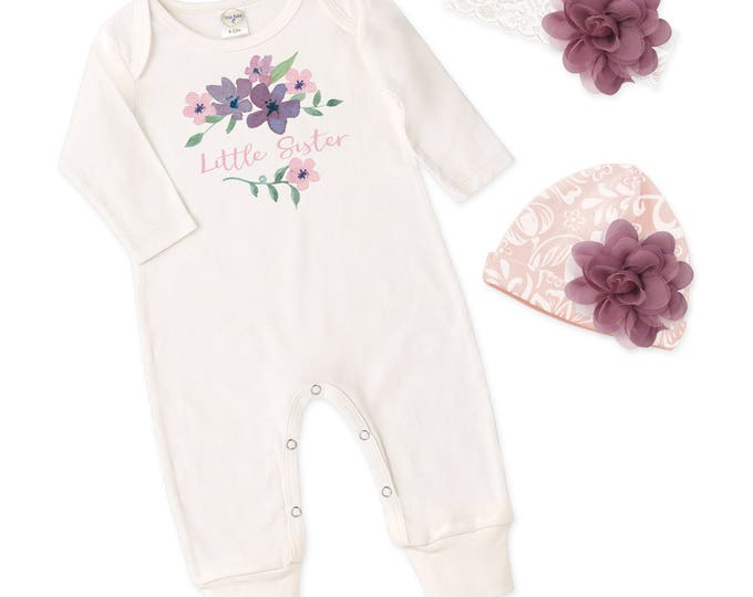 Newborn Girl Coming Home Outfit, Newborn Girl Outfit, Little Sister Outfit,  Baby Sister Romper, Baby Tesa Babe RS81IY63FQ59LCIY-2F85DP-T982