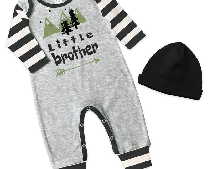 Little Brother Take Home Romper, Baby Boy Coming Home Romper, Baby Little Brother Bodysuit, Little Bro, TesaBabe RC810HGIBS0000 little bro