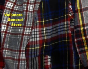 Vintage Shirts Streetwear Men's Lumberjack Country Comfort Camping Outside Plaid Flannel Streetwear Grunge Hipster Style