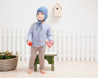 SALE 60% Blue baby Sweater / Knit baby or toddler cardigan / Children spring sweater / Cardigan for boy / girl / kids / Children sweater
