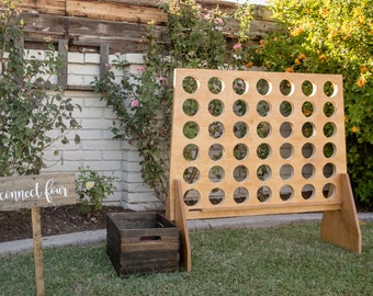 Giant Connect Four Game | DIY | Unpainted | 4 in a row | Connect 4 | Kids Game | Wedding Game