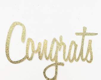 Congrats Cake Topper - Engagement Topper - Celebration - Party Cake Topper - Retirement Party - Graduation Topper - Cake Topper