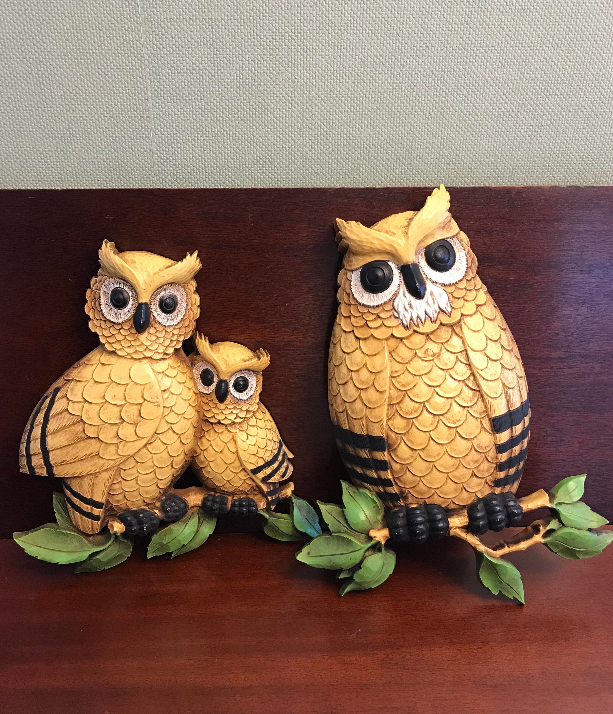 Vintage Owl Kitchen Decor: Vintage Owl Wall Decor, Homco Owls, Kitschy Owls, Owl Wall
