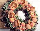 Wreath, Winter Wreath, Christmas wreath, Autumn wreath, Thanksgiving wreath, Wall decoration, Door decoration, Front Door Decoration