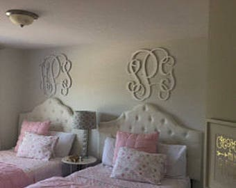 PAINTED Wooden Letters - Dorm Room Monogram  - Wooden Monogram Wall Hanging - Personalized Wall Art
