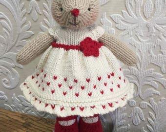 Hand Knitted Bear Reindeer Christmas