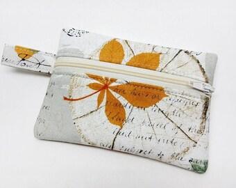 Coin purse, zipper pouch, zipper purse, change wallet, autumn coin purse, zipper pouch, kids coin purse, zipper wallet, kawaii wallet