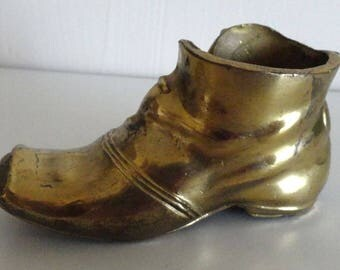 Vintage Brass Shoe Ashtray from the 1960's
