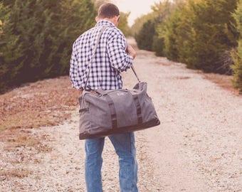 Men's Monogrammed Travel Set | Groomsmen Gift Ideas | Monogrammed Dopp Kit | Monogrammed Duffle | Overnight Case | Gift for Him | Beau Set