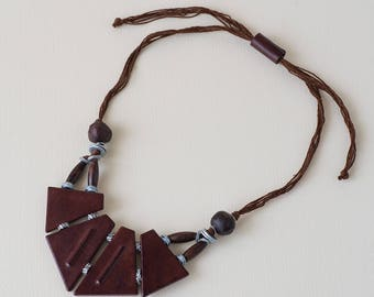 Tribe Necklace-Tribal necklace, ethnic leather necklace-gift for you