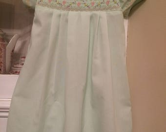 Smocked daygown