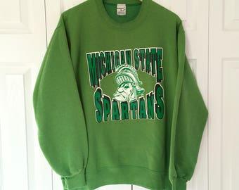Vintage MSU Spartans Sweatshirt Size XL