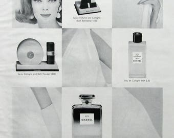 1963 Chanel No 5 Perfume Ad - Most Treasured Name - 1960s Woman's Fragrances