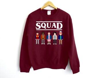 Stranger Things Sweatshirt - Squad Sweater - Eleven Mike Will Lucas Dustin - Bitchin - Netflix - Pixel Sweater - Squad Sweater - Squad Goals