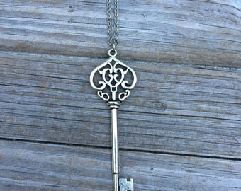 Skeleton Key Necklace, Key Necklace, Wedding Necklace, Gifts for her, Gifts for Mom, Vintage style necklace