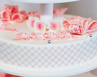 Cake Stencils- Small Diamond Stripe Stencil, Birthday Cake, Wedding Cake, Celebration Cake, Washable, Reusable, Dishwasher Safe, Food Safe