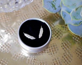 Sterling Silver Feather Earrings / studs / ear climber / gifts for her / feather gift / stocking filler / 925 / hypoallergenic