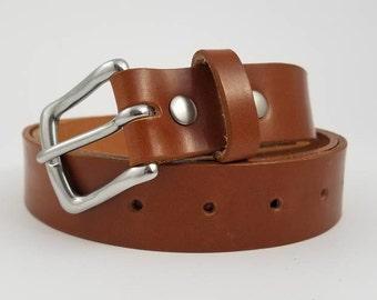 Tan Sedgwick English Bridle Leather Belt - 1.25'' W