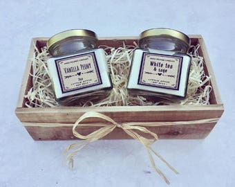 Scented Soy Candle Gift Set, Soy Candles, Scented Soy Candles, Set Of 2 Soy Candles With Gift Box, Soy Candle Gift Set