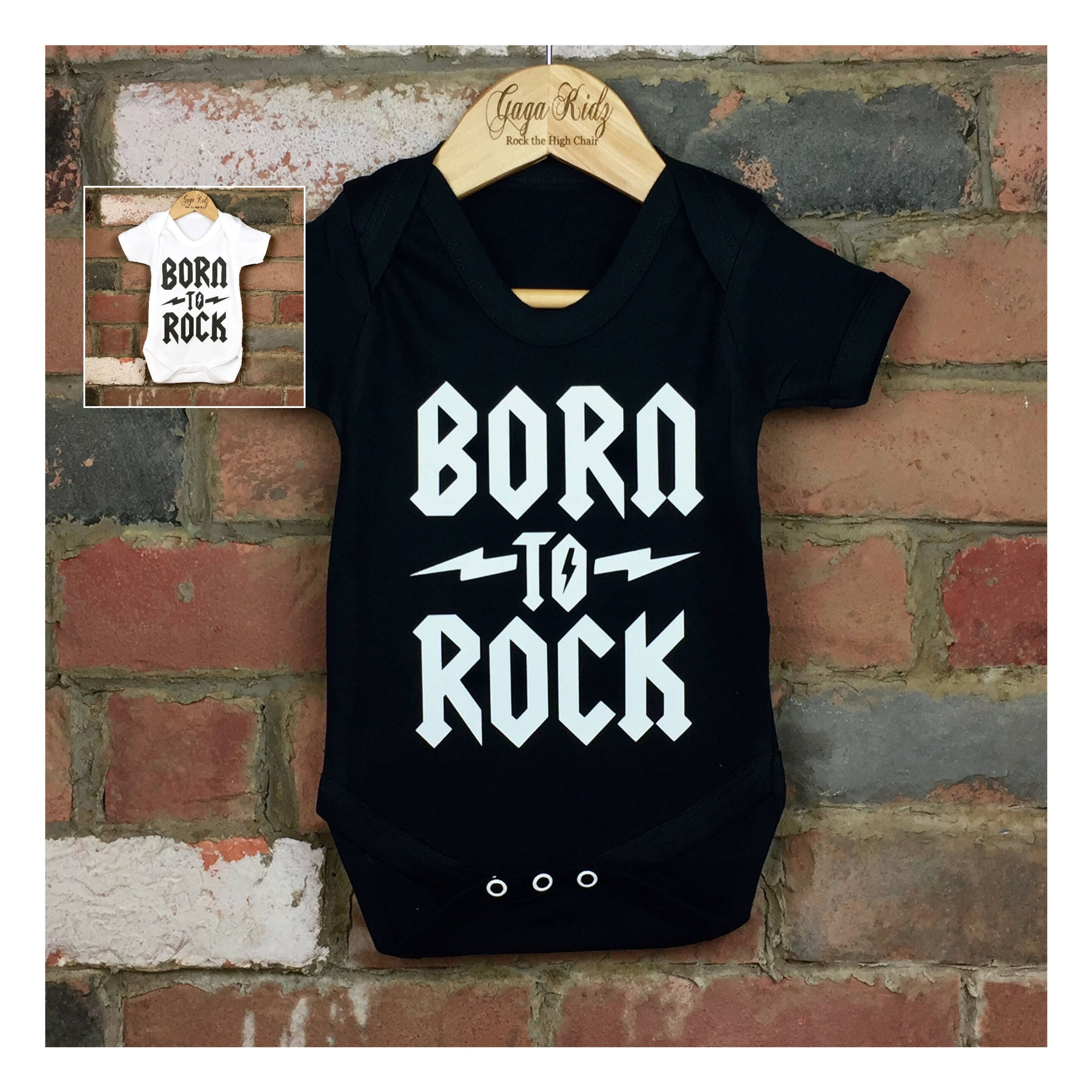 Born to Rock Baby Bodysuit Bringing Home Baby Outfit Cool Baby