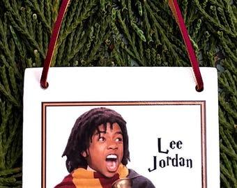 Harry Potter Christmas Ornament: Lee Jordan Square Ceramic Ornament