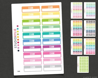 Exam Planner Stickers - Repositionable Matte Vinyl
