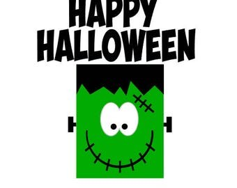Happy Halloween Monster Vinyl Decal Craft Project DIY Craft Idea Frankenstein Sticker  sc 1 st  Etsy & Frankenstein shape | Etsy pezcame.com