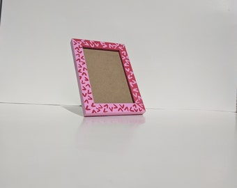 Red and Pink Patterned Picture Frame
