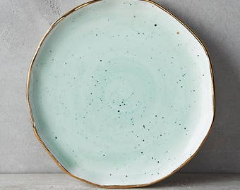 Anthropologie Mimira Canape Appetizer Dessert Side Plate MINT