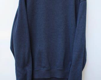 Champion Sweatshirt / Men's XL - TALL / Natural Navy / Plain Solid Pullover Crewneck / Soft & Worn