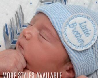 Baby boy Hat Baby Boy Hospital Hat Baby Boy Hat Beanie It's a Boy Hat Blue Baby Boy Cap Blue Striped Baby Boy Hat Newborn Boy Hat Beanie