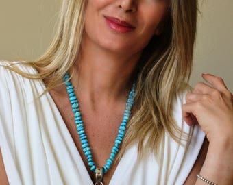Divine Turquoise Cross Necklace