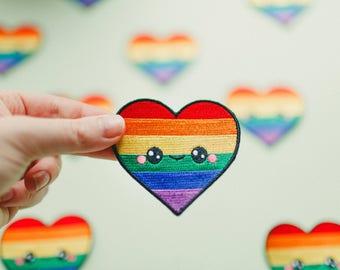 Kawaii Happy Pride LGBTQ+ Iron On Patch