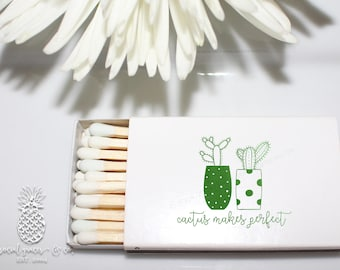 Cactus Party   Customizable Matchbox   Birthdays, Weddings, Engagement Bridal Parties and Baby Shower Party Favors   social graces and co.
