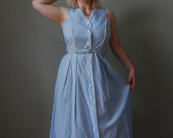 1950s/1960s Baby Blue House-Wife Dress