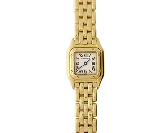 Mini Cartier Panthere 18K Yellow Gold Watch 1130 1