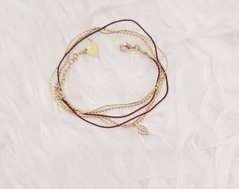 Bracelet double leaf