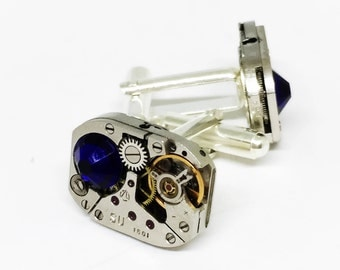 Steampunk Cuff Links, gift-for-men/ gift for husband/boyfriend gift/geek gift/gift for man/industrial/steampunk wedding
