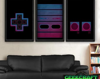nintendo art 1980s nintendo nes controller retro videogames gamer