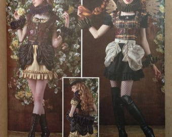 Simplicity 8075 Arkivestry Steam Punk Dress, Bustle, Neckband, Vest, Cuffs and Harness - Size 14 16 18 20 22