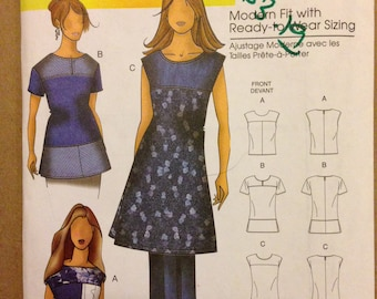 Butterick B5503 Multi Panel Seamed Top or Tunic by Connie Crawford with Shoulder Yoke Bodice - Size XS S M L XL