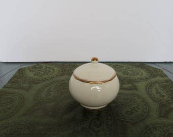 Mikasa Fine Ivory Sugar Bowl and Lid, Made in Japan, Ceylon Pattern